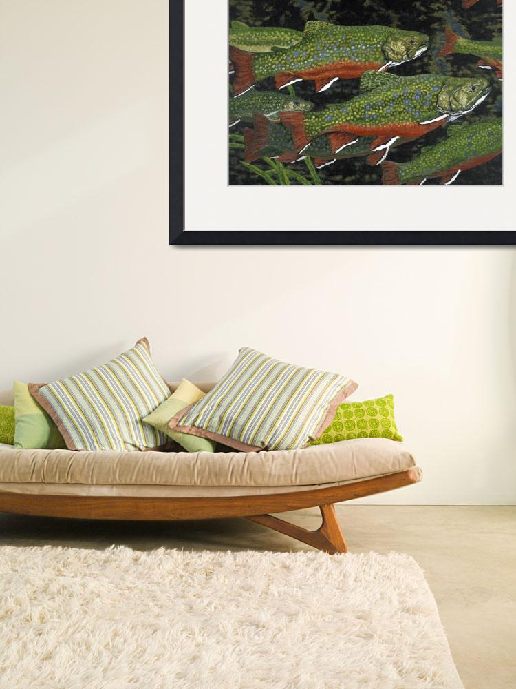 """Fine Art Prints Fish Trout Water Brook Trout&quot  (2008) by BasleeTroutman"