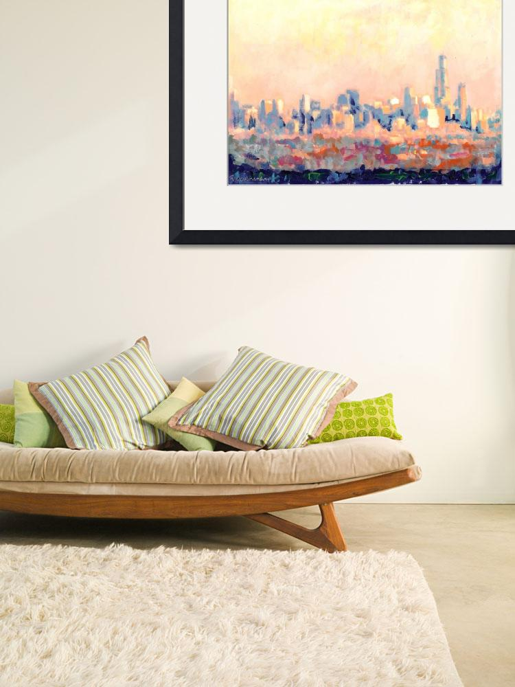 """Chicago Skyline by RD Riccoboni&quot  (2007) by BeaconArtWorksCorporation"