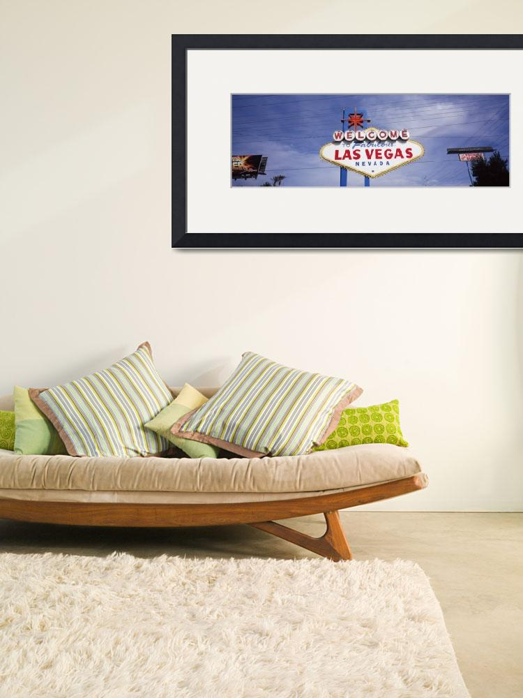 """""Low angle view of Welcome sign, Las Vegas, Nevada&quot  by Panoramic_Images"