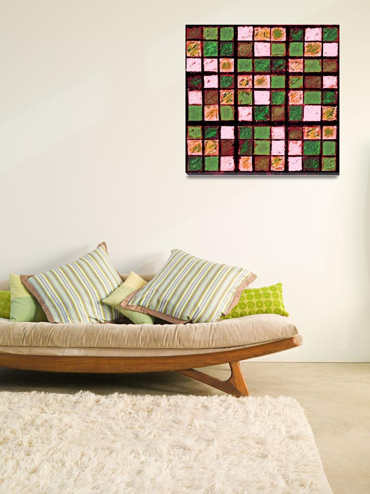 """Sudoku Abstract Brown Green&quot  (2012) by KsWorldArt"