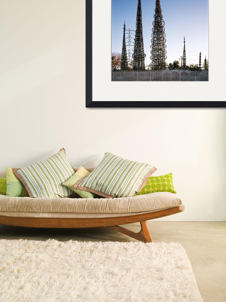 """Watts Towers Los Angeles&quot  (2011) by dotpattern"