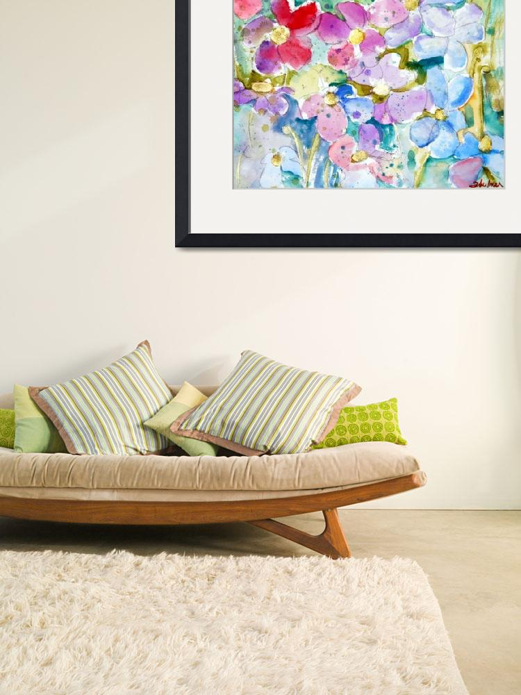 """Passe, Floral Landscape Painting wildflowers with&quot  by schulmanart"