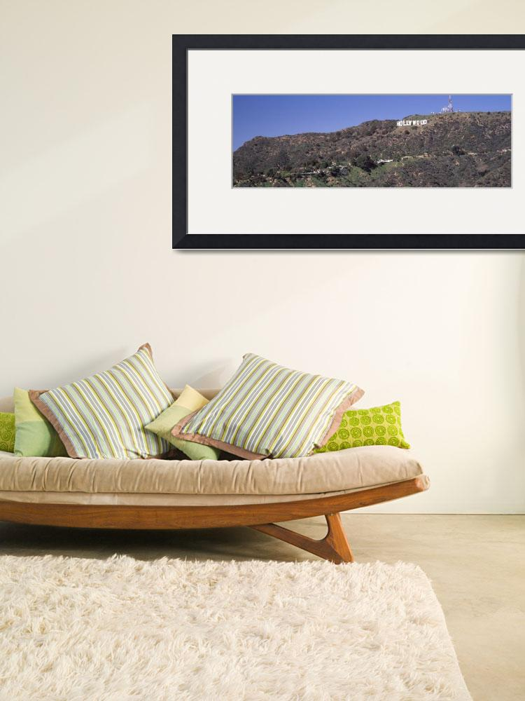 """Hollywood sign on a hill Hollywood Hills Hollywoo&quot  by Panoramic_Images"