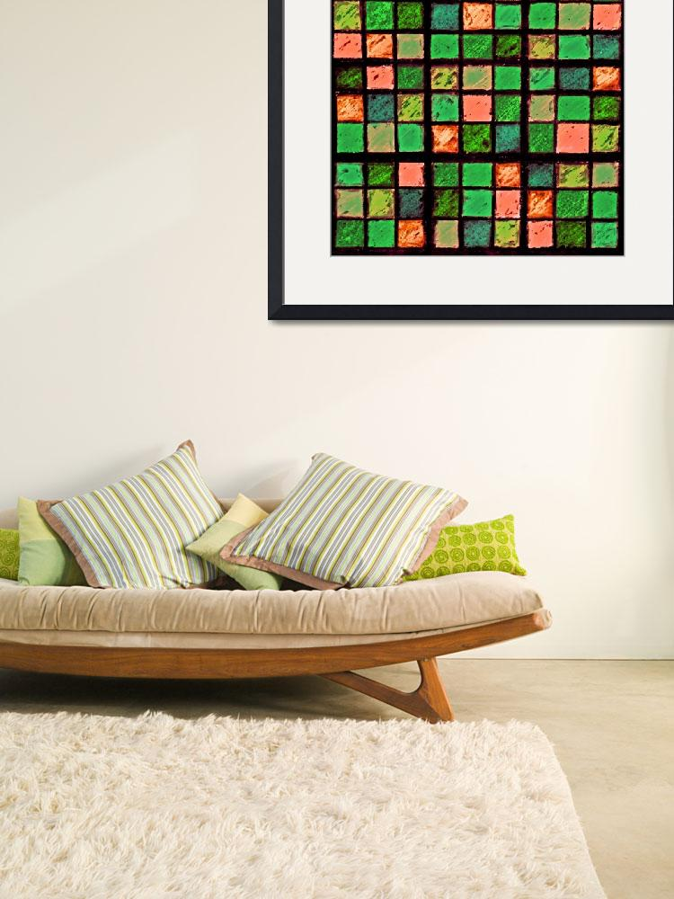 """Sudoku Abstract Green Coral&quot  (2012) by KsWorldArt"