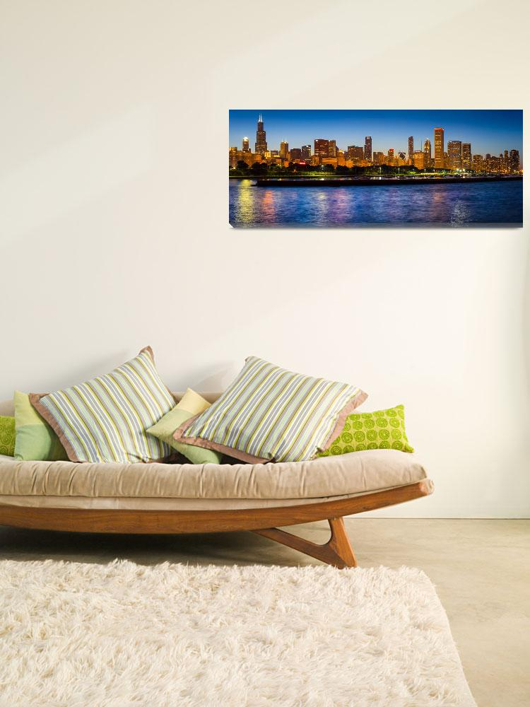 """Chicago Skyline&quot  (2013) by Inge-Johnsson"