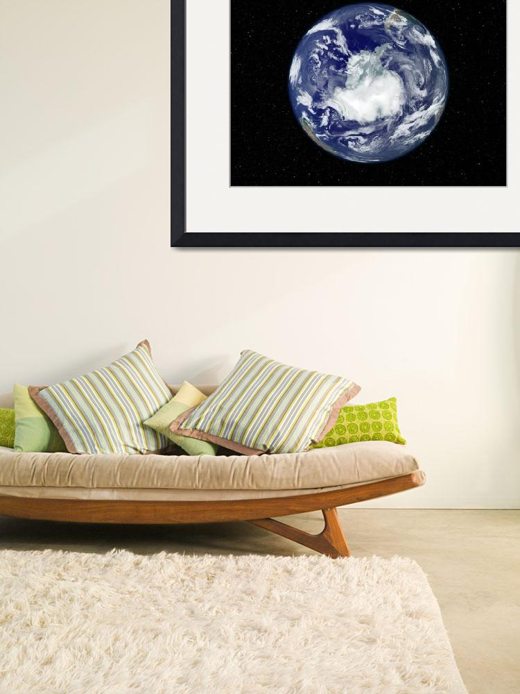 """Full Earth centered on the South Pole&quot  by stocktrekimages"