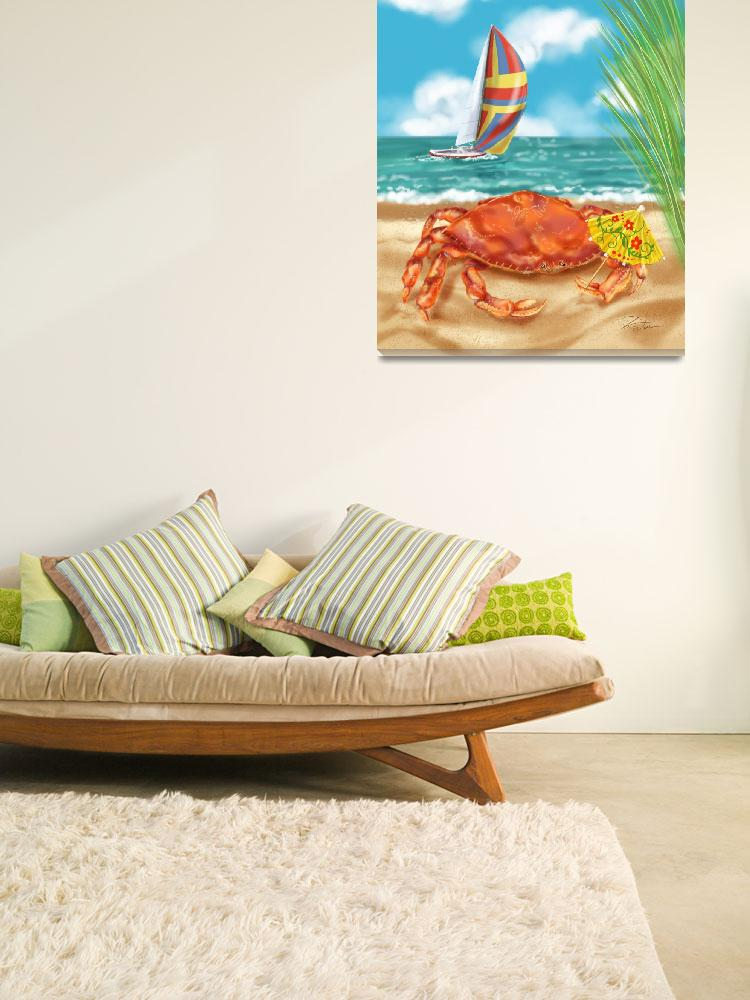 """Crab Beach Fun&quot  (2007) by shariwarren"