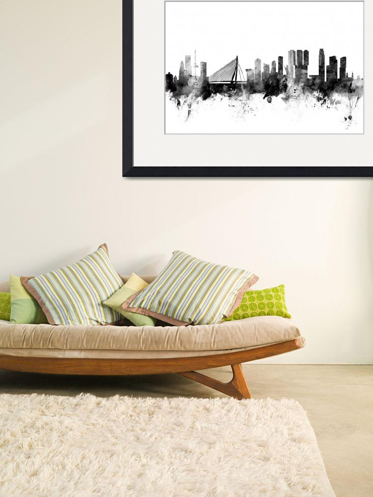 """Rotterdam The Netherlands Skyline&quot  (2015) by ModernArtPrints"