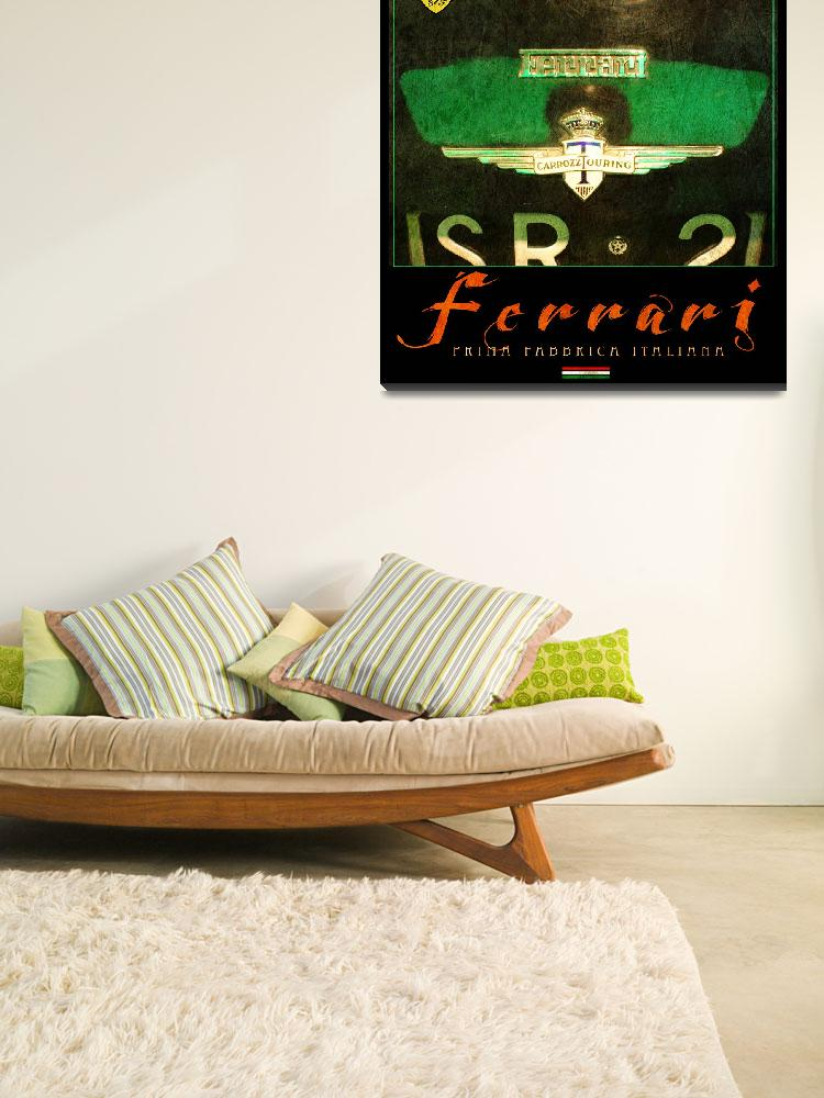 """ferrari poster in green&quot  (2013) by rchristophervest"