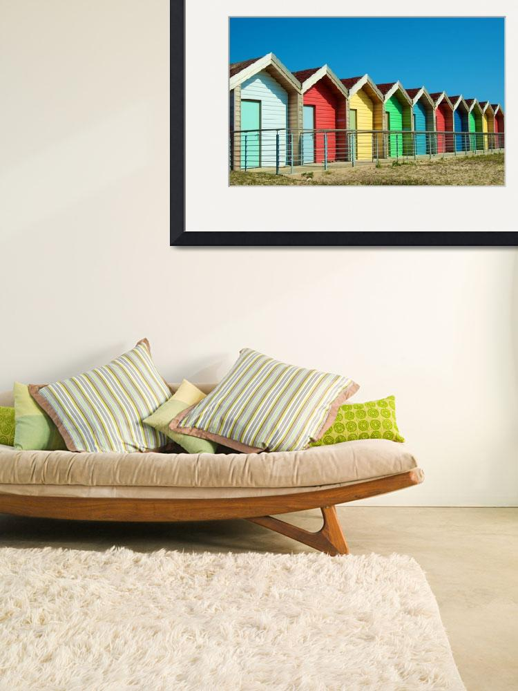"""Bright Beach Huts&quot  (2010) by ChrisBarry"