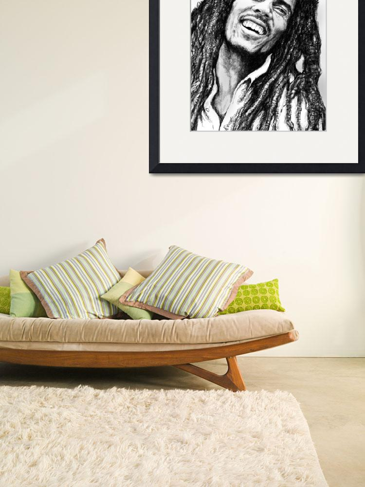 """Bob Marley art drawing sketch portrait&quot  (2012) by visualharbour"