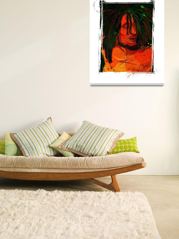 """Bob Marley by Michael T. Bane&quot  (2005) by tBaneArt"