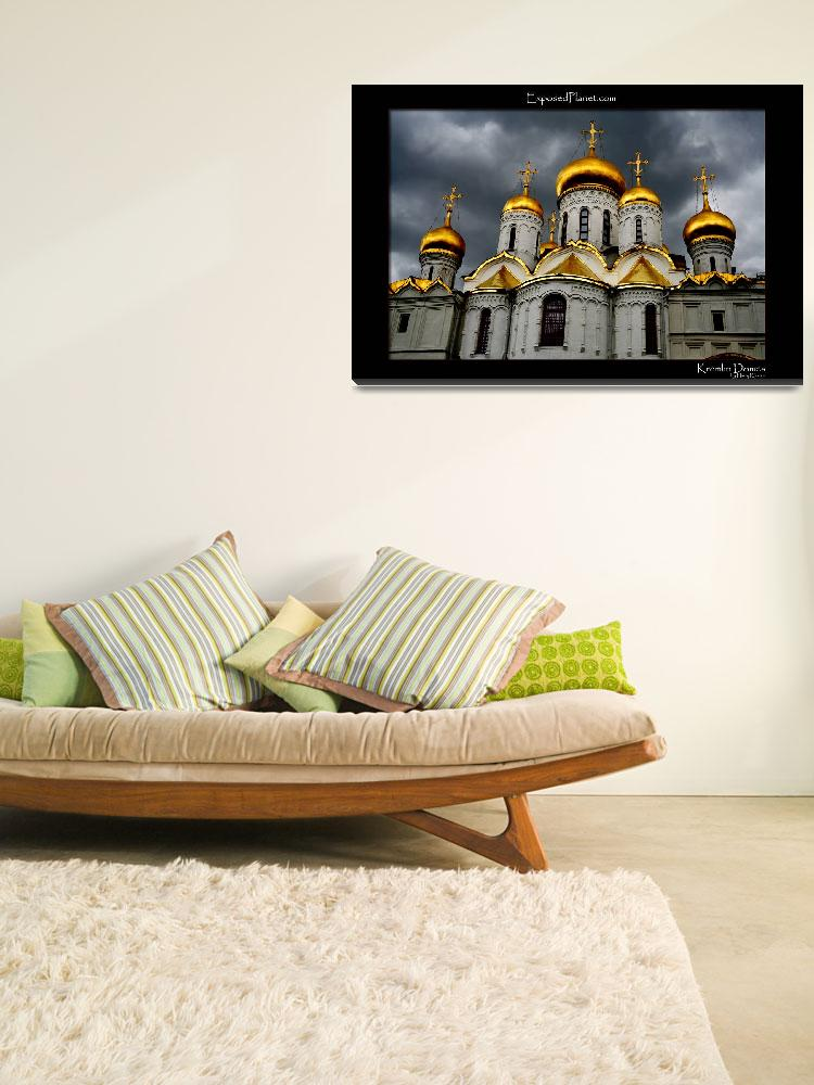 """Cathedral domes in the Kremlin with dark sky&quot  by ExposedPlanet"
