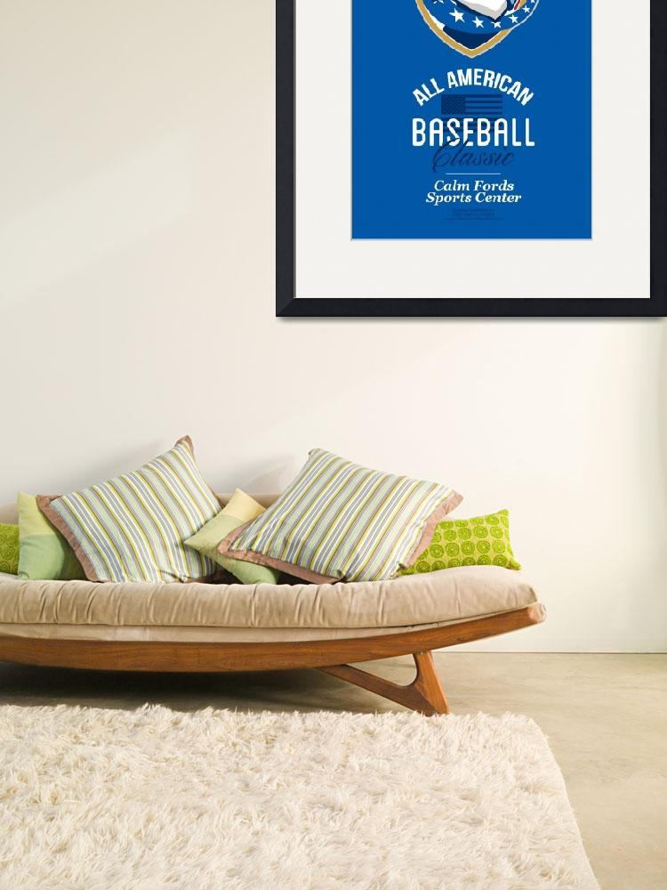 """All American Baseball Classic Retro Poster&quot  (2013) by patrimonio"