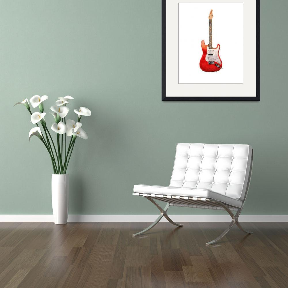 """Red Guitar Pastels&quot  (2010) by melonphotography"