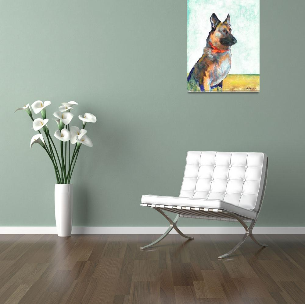 """German Shepherd Portrait by Riccoboni&quot  (2010) by BeaconArtWorksCorporation"