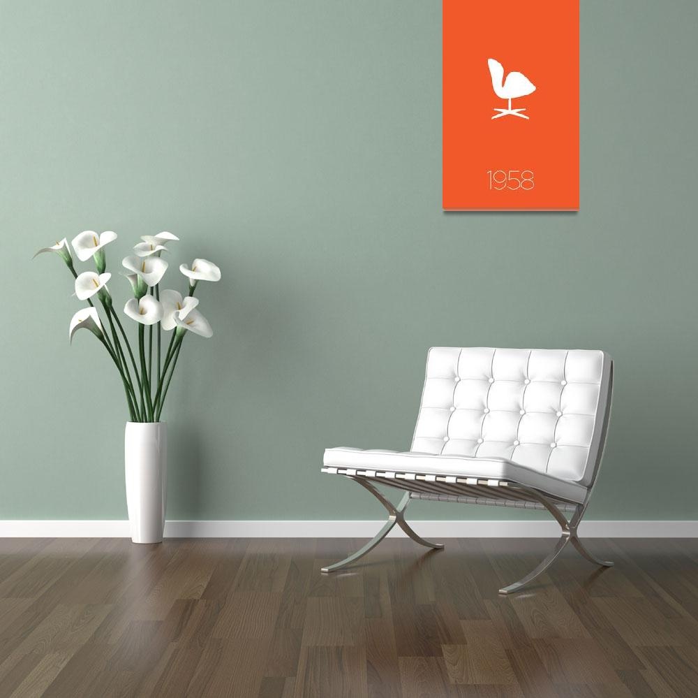 """Modern Furniture Classic 1958 Swan Chair&quot  (2012) by kken"