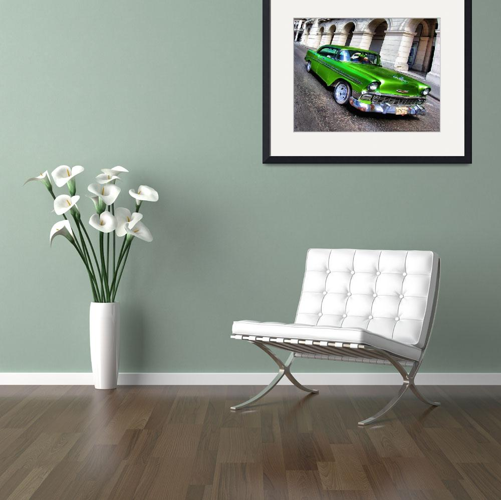 """Emerald Green 1956 Chevy 4dr Coupe Classic car&quot  (2008) by IMAX007"
