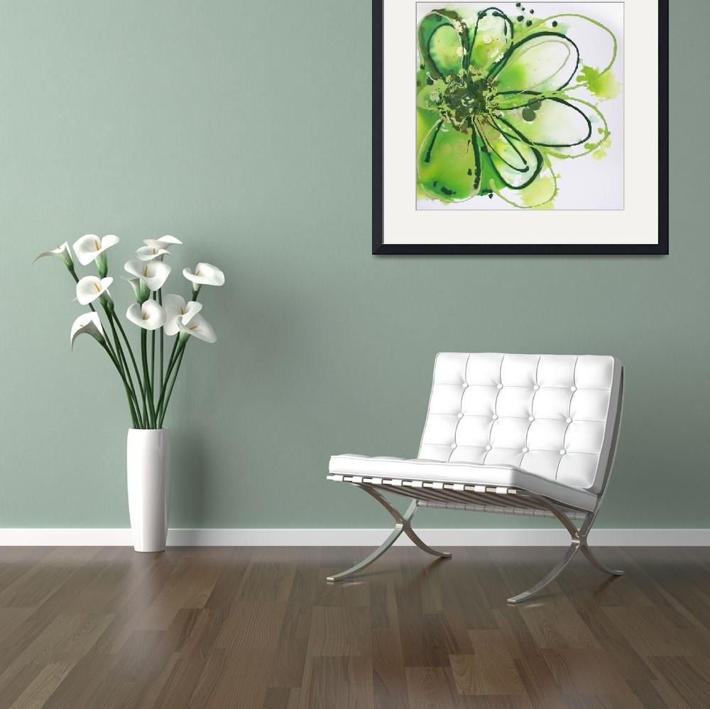 """Green Abstract Splash&quot  by Aneri"