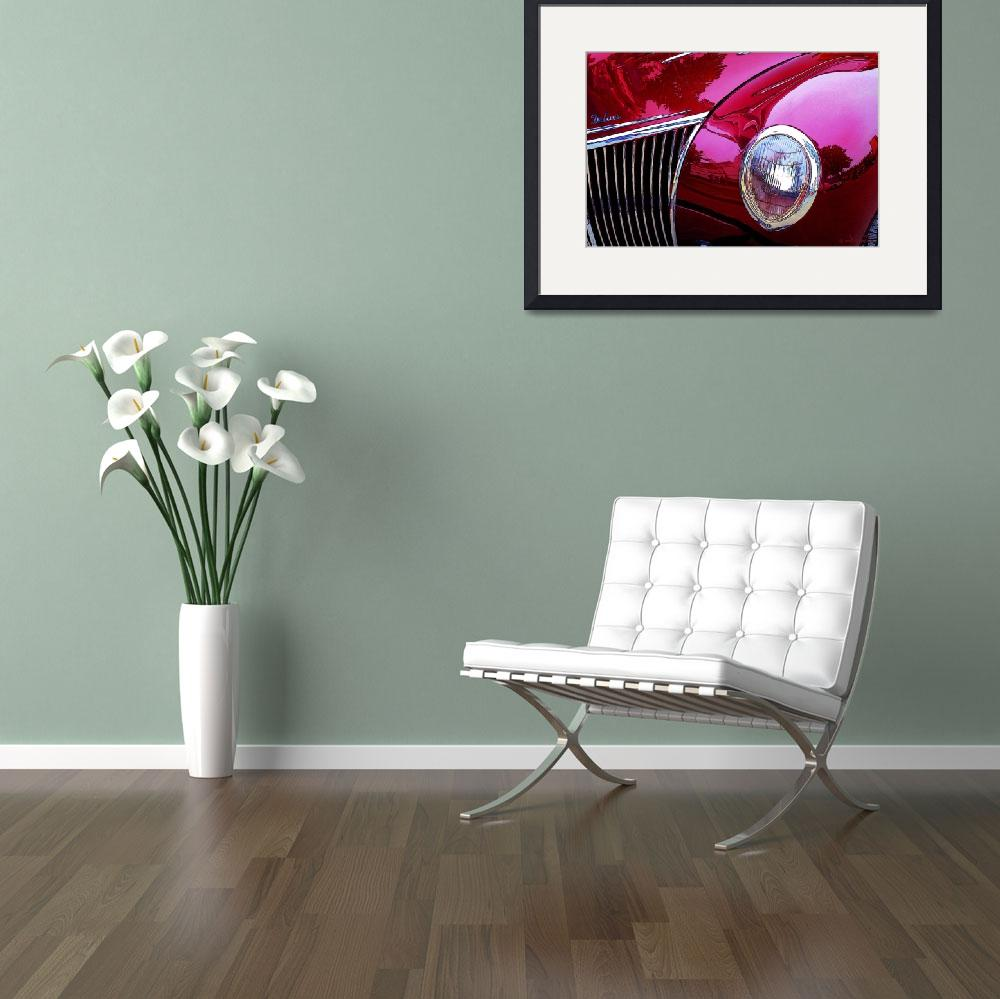 """A Collectible Red Vintage Car&quot  (2012) by WallArtDeco"