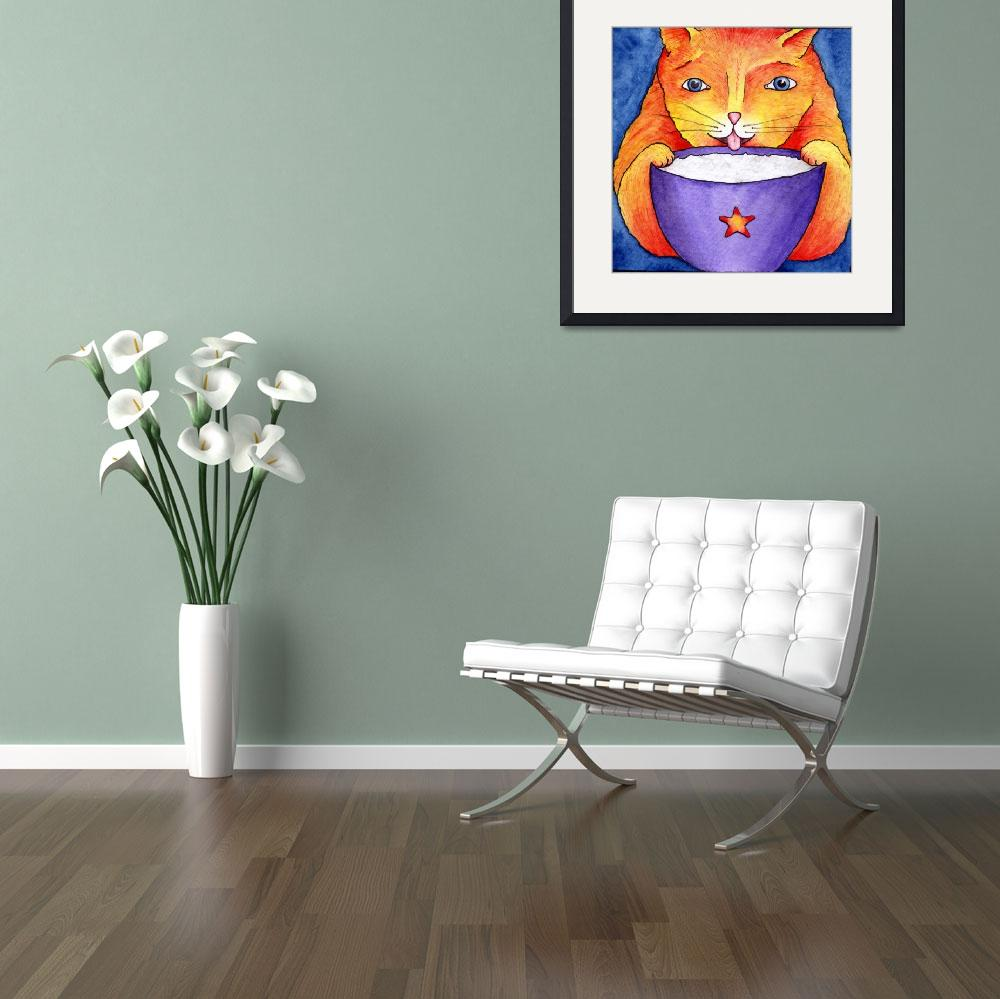 """Coffee cat&quot  (2002) by GayleMadeira"