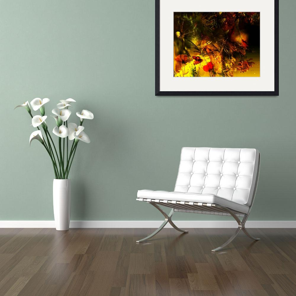 """Abstract floral poster&quot  by IndianSummer"