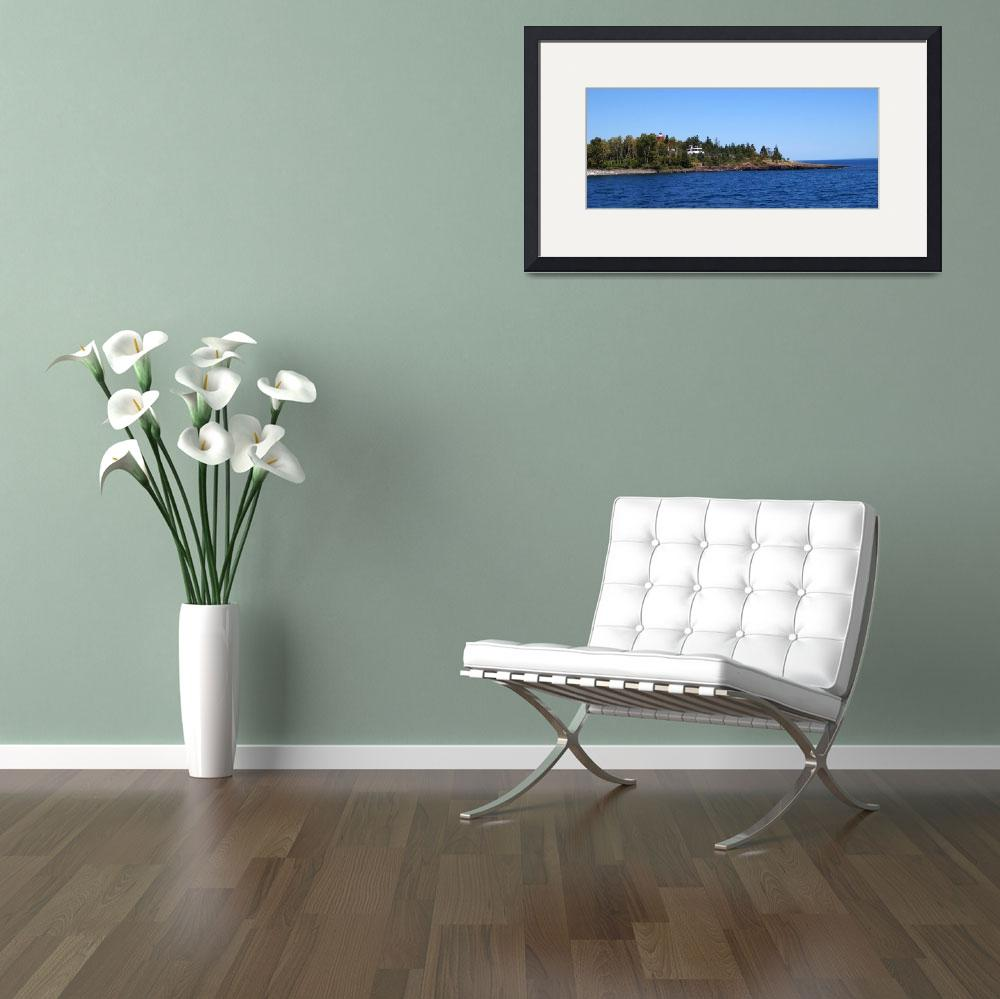 """Two harbors and Lake Superior skyline&quot  by cameragal"