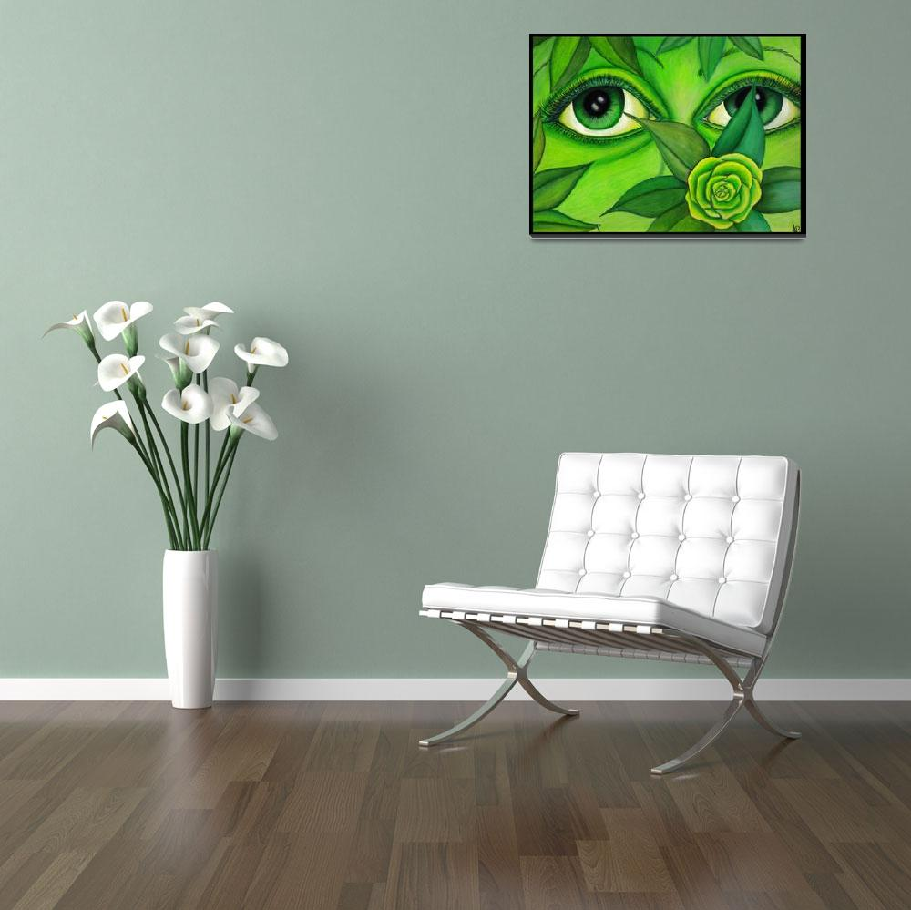 """A-Peering Green&quot  (2011) by ArtByAlycia"