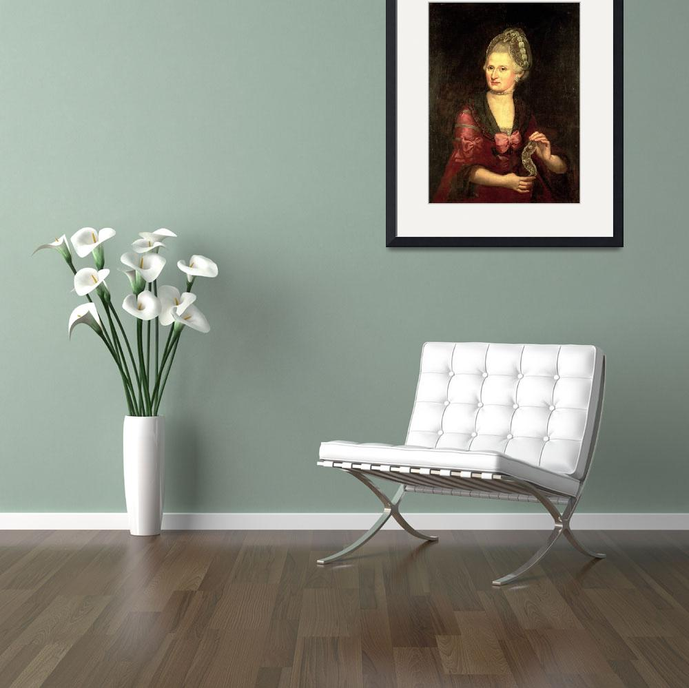 """Anna Maria Mozart, nee Pertl, mother of Wolfgang A&quot  by fineartmasters"