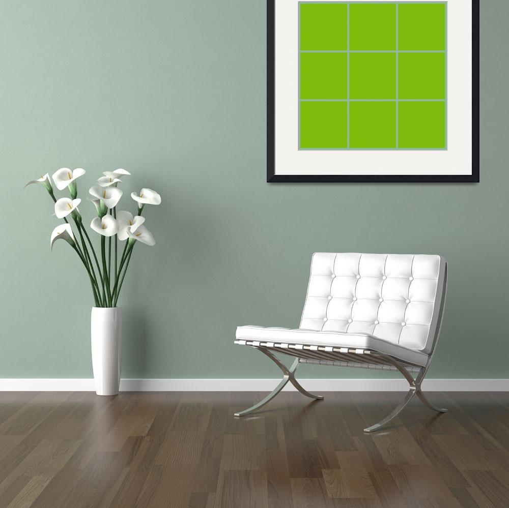 """Green Window 012 Canvas Contemporary Modern&quot  (2010) by Ricardos"