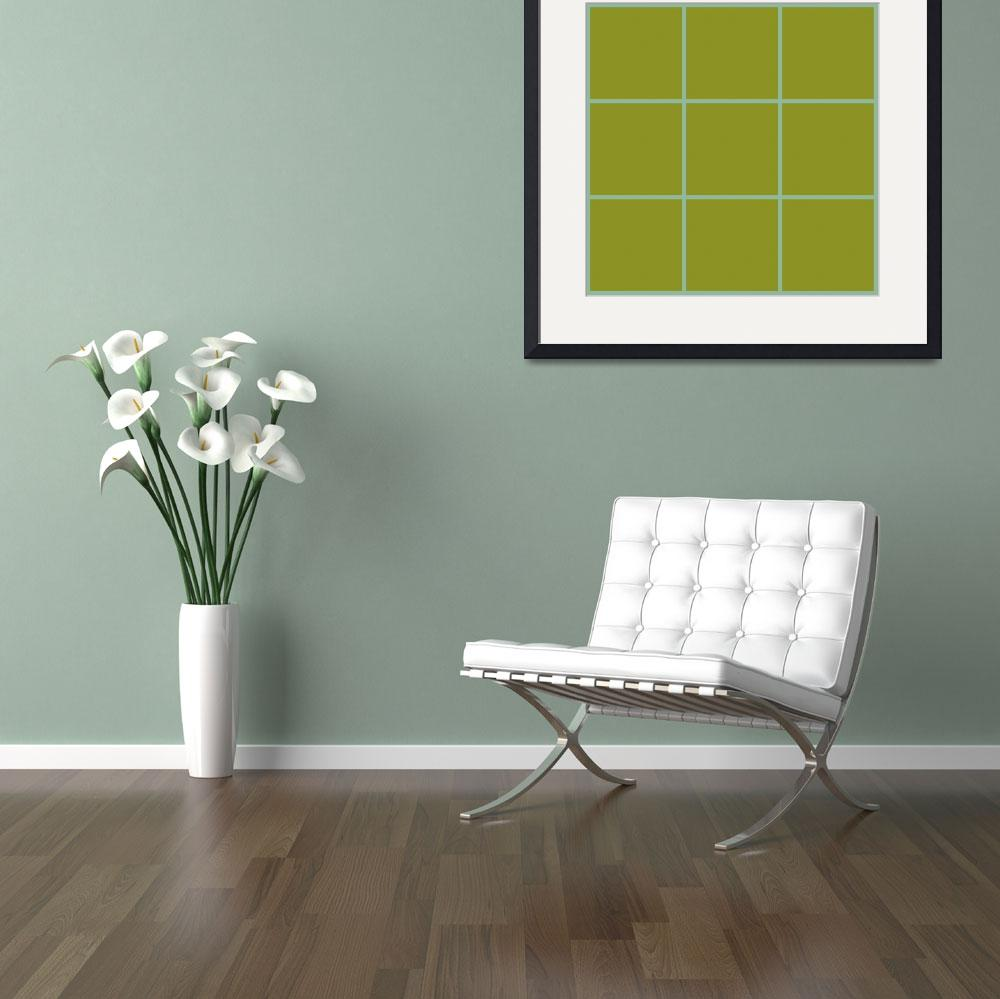 """Green Window 112 Canvas Contemporary Modern&quot  (2010) by Ricardos"