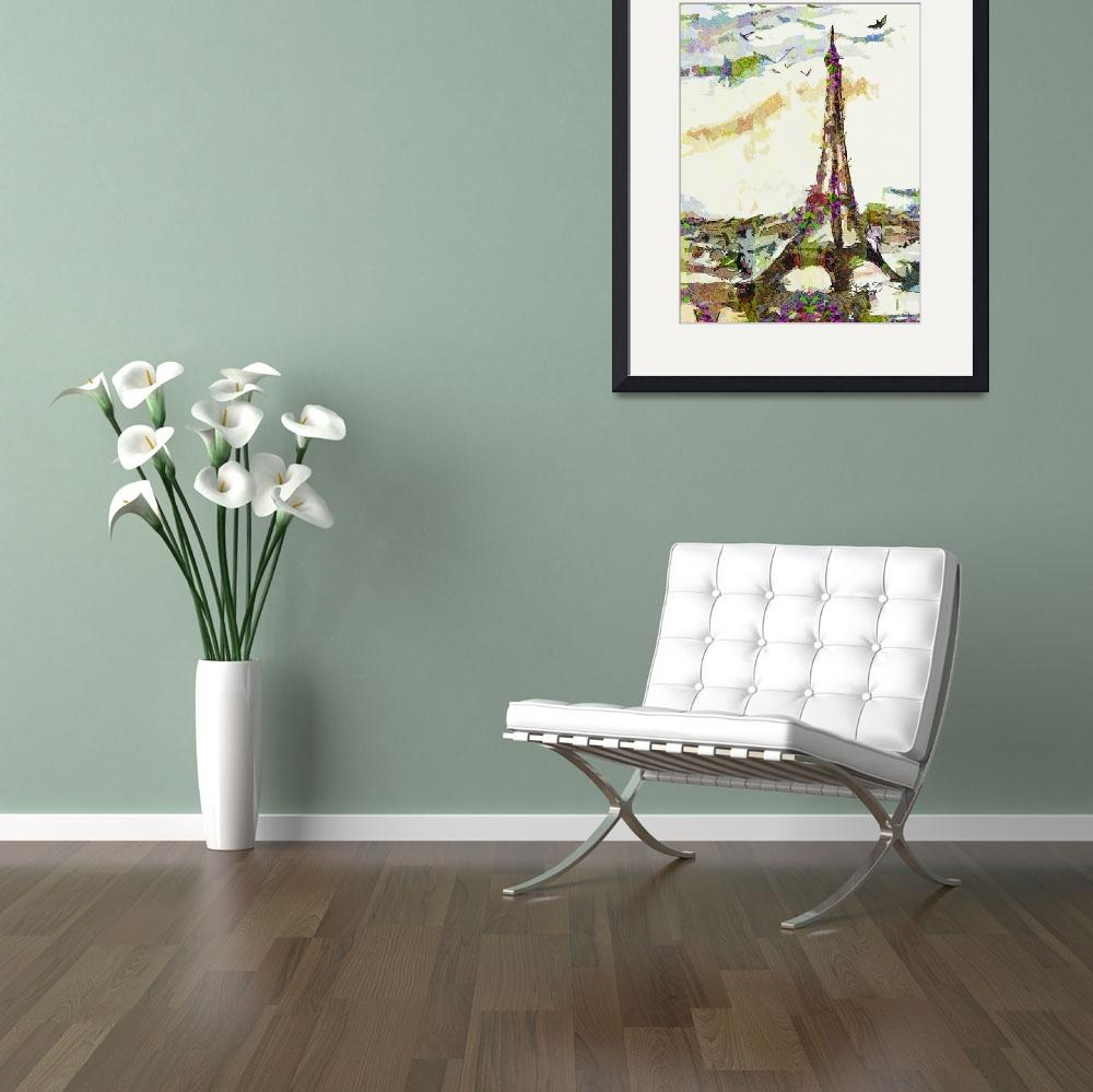 """Paris France In Spring Modern Decorative&quot  (2014) by GinetteCallaway"