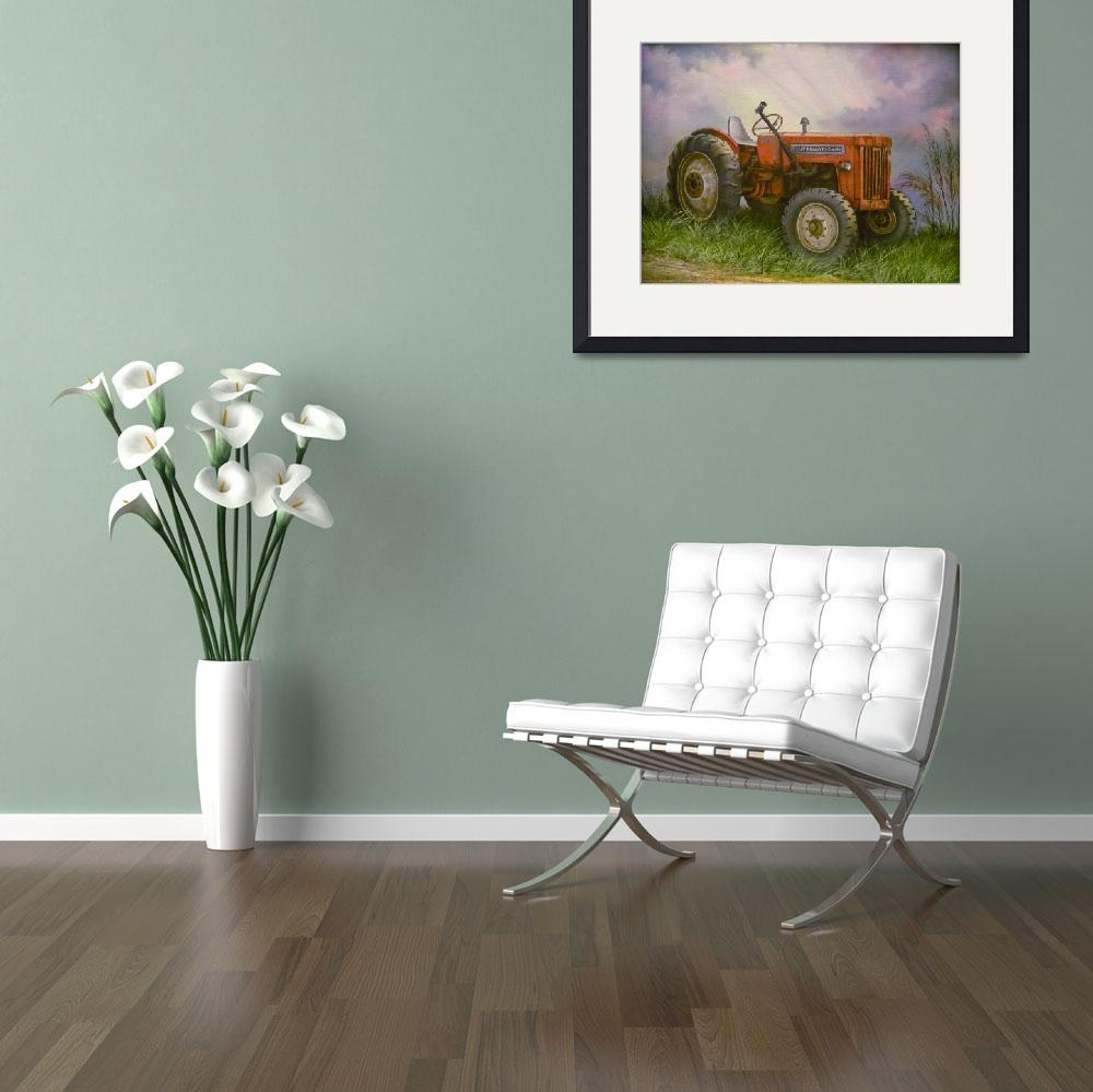 """Old International Farm Tractor&quot  (2007) by vivianeagleson"