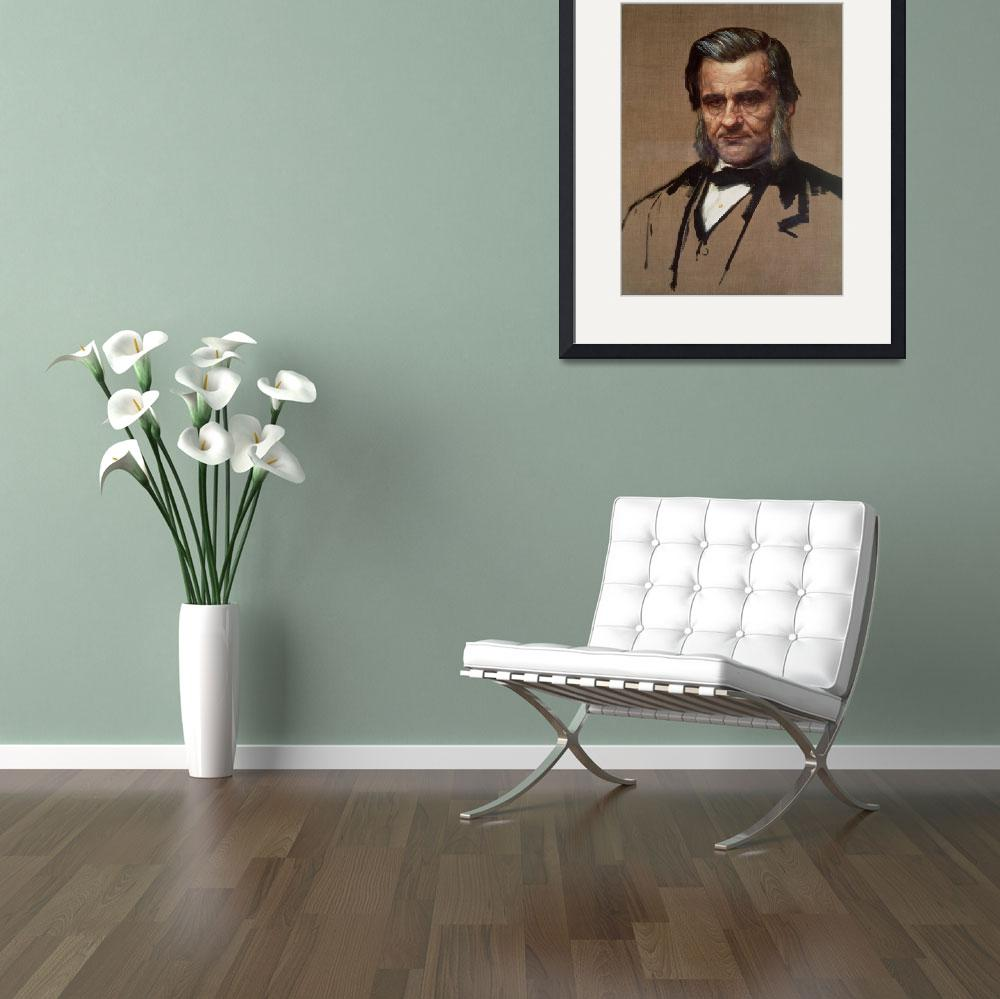 """Portrait of Thomas Henry Huxley&quot  by fineartmasters"