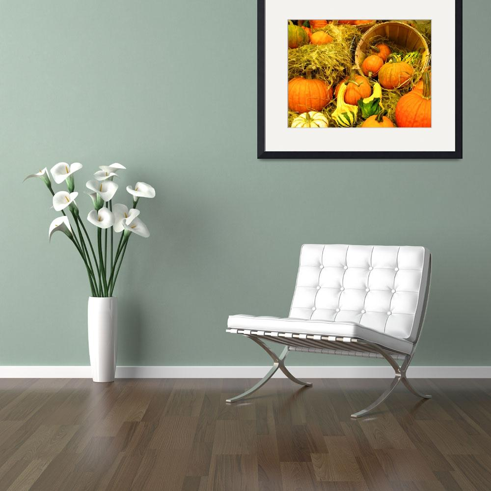 """Fall Autumn Harvest,Pumpkin Show,Colorful Gourds&quot  (2010) by Chantal"