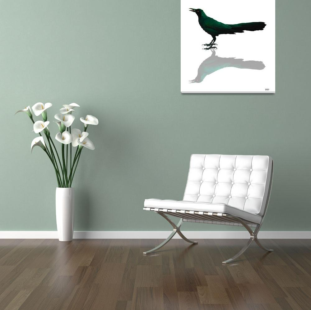 """Blackbird Green&quot  by AnimalsbyDiDi"
