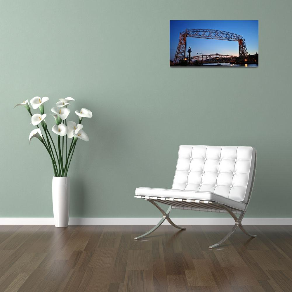 """Duluth Minnesota Lift Bridge 2&quot  (2011) by LJdesigns"