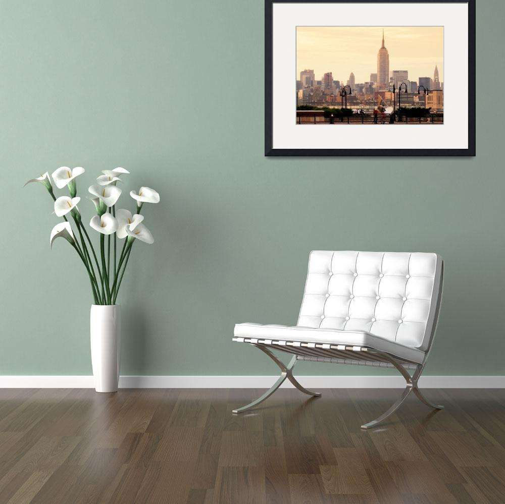 """The Empire State, New York Skyline&quot  by SanjayNayar"