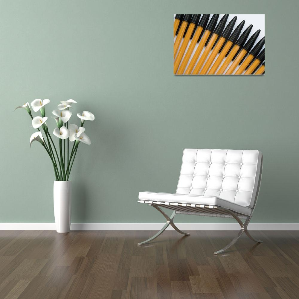 """Yellow and Black Biros Wall Art&quot  (2010) by NatalieKinnear"