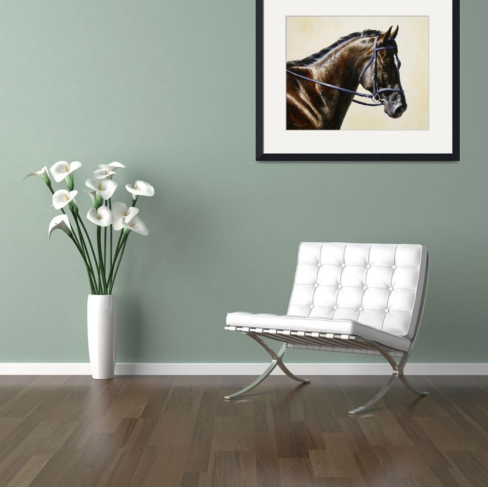 """Dark Bay Dressage Horse&quot  (2013) by csforest"