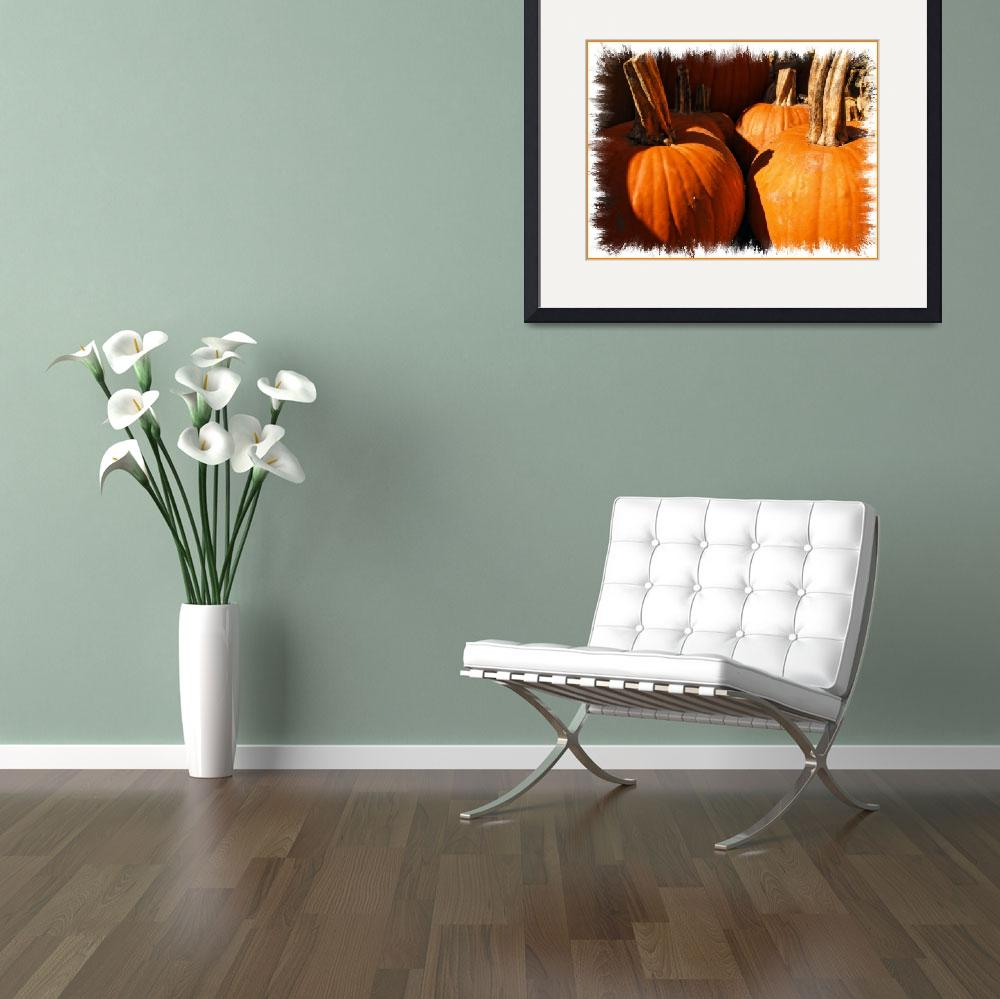 """Pumpkin Patch,Large Gourds,Autumn Harvest Colors&quot  (2010) by Chantal"