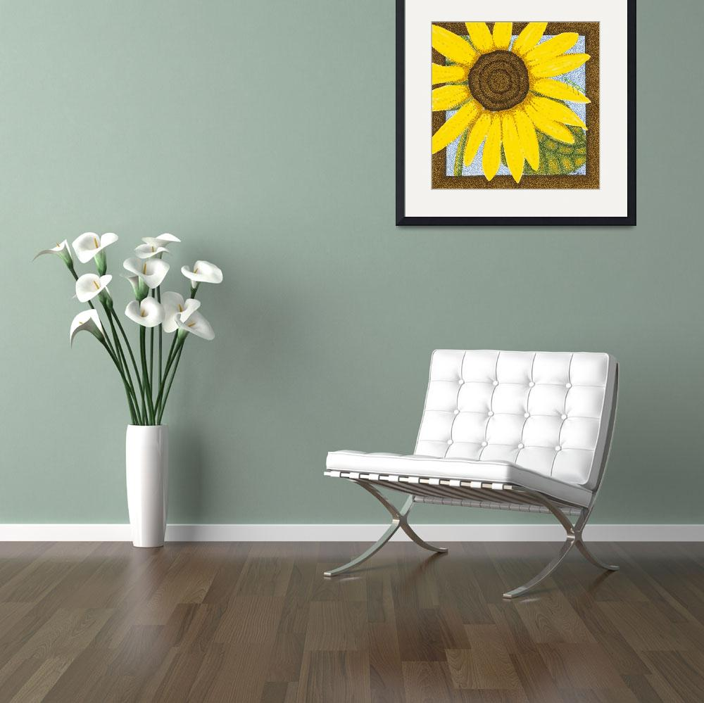 """Wee Sunflower 2&quot  (2009) by ArtbyJudyNewcomb"