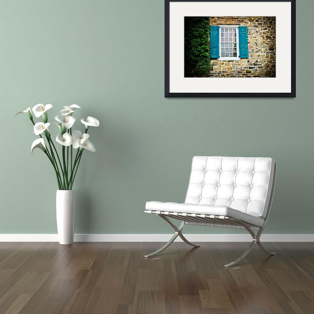"""Turquoise Shutters&quot  (2013) by ColleenKammerer"