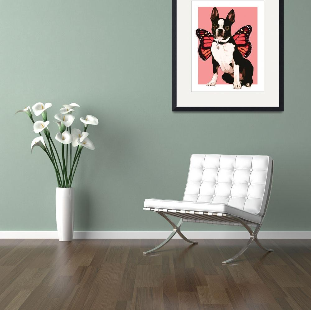 """Fairy Boston Terrier&quot  (2012) by peekapooch"