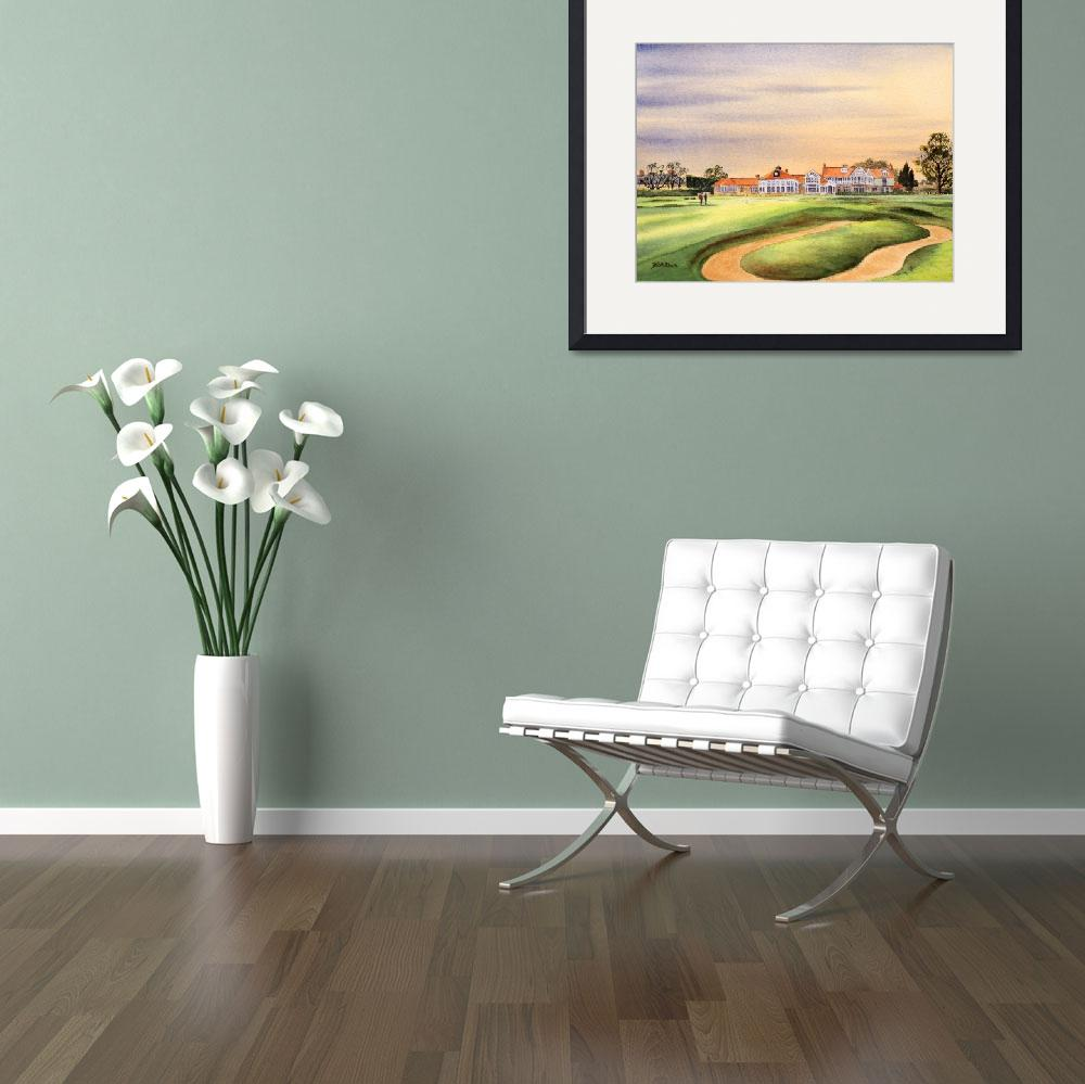 """Muirfield Golf Course 18th Green&quot  (2014) by billholkham"