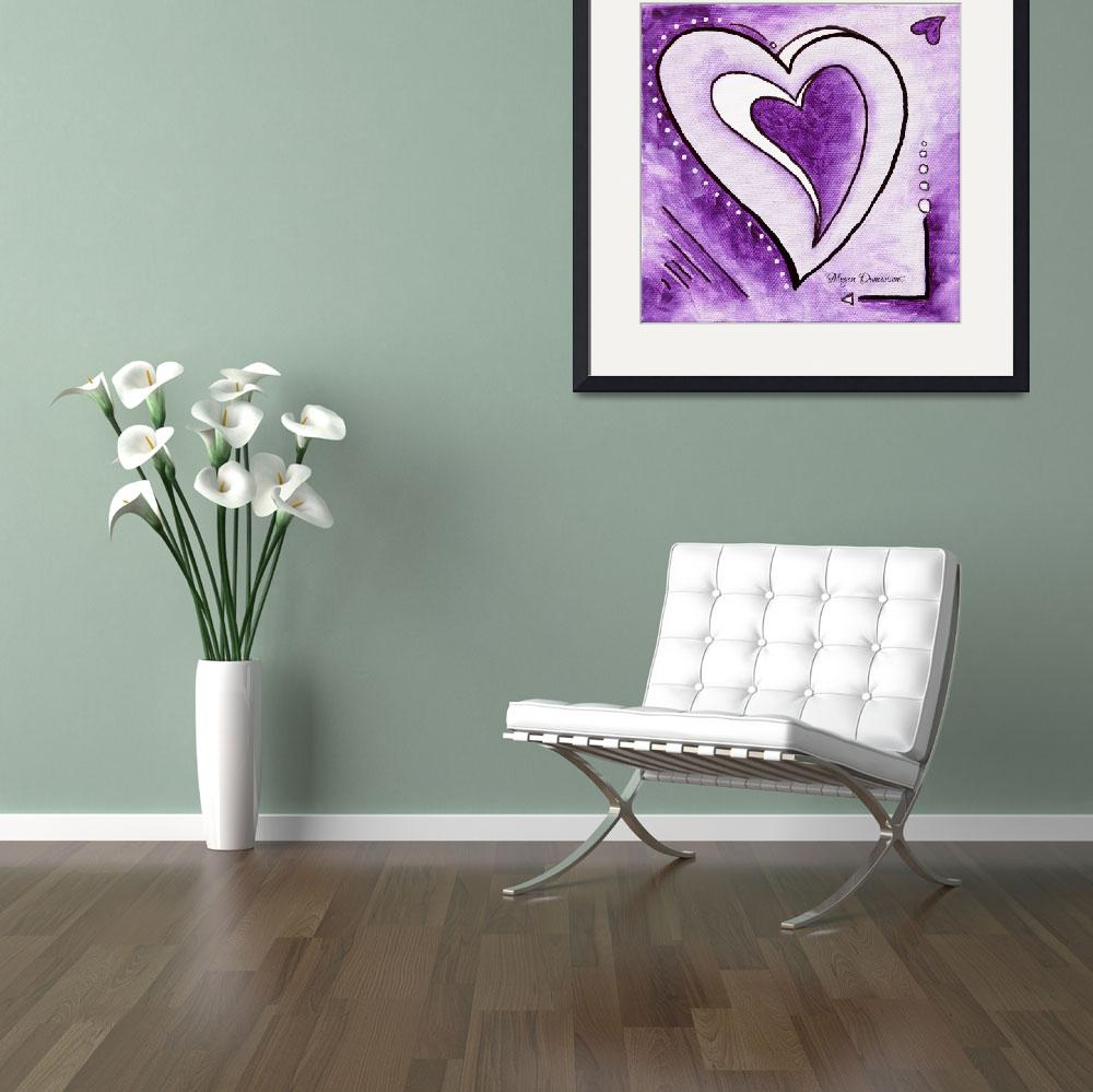 """""HEARTS AFIRE Blessed"" Original Abstract Painting&quot  by meganduncanson"