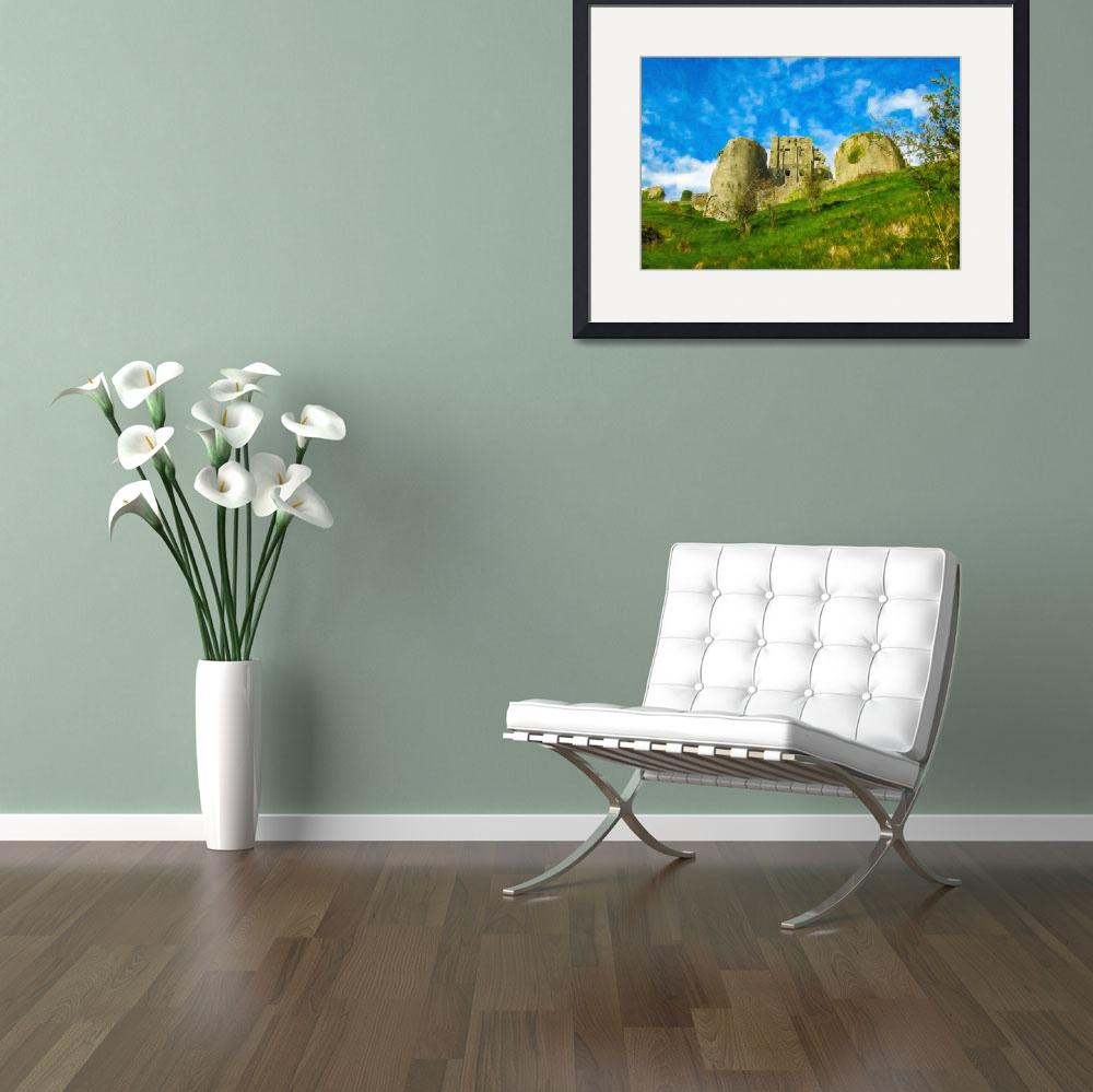 """Corfe Castle - ENG857799&quot  by rdwittle"