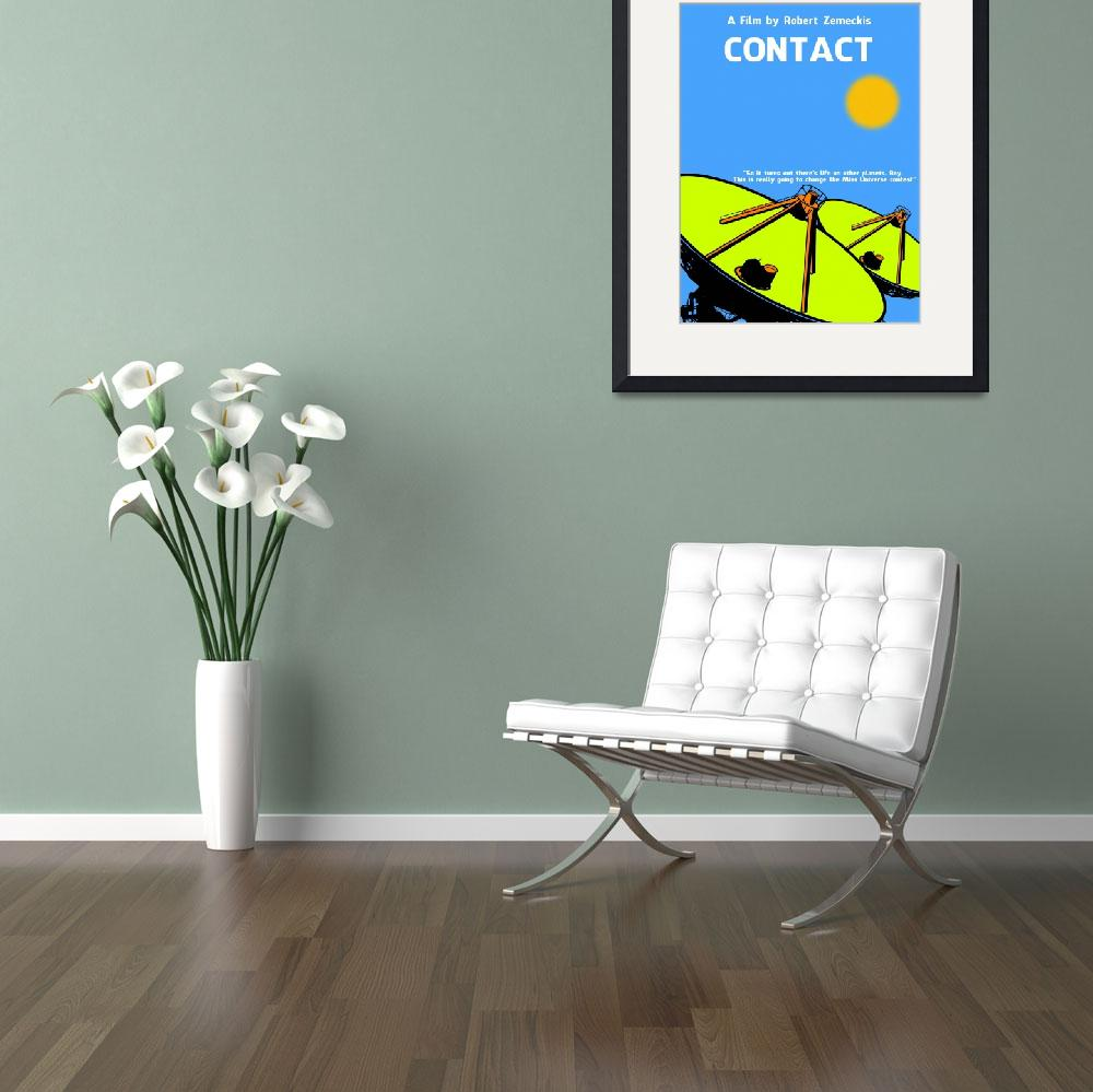 """Contact Minimalist Movie Poster SML&quot  by motionage"
