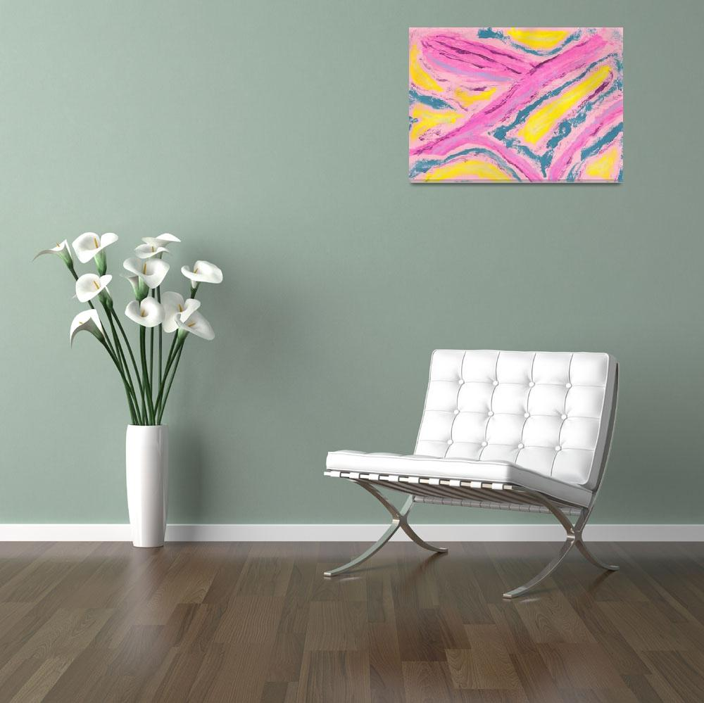 """Abstract in Pink Yellow Green&quot  (2008) by spiritualartist"