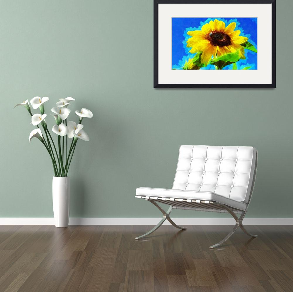 """Sun Flower - ID 16235-142822-9091&quot  by lurksart"